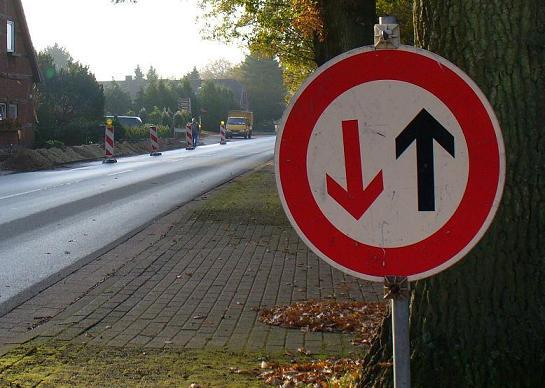 gegenverkehr hat vorrang